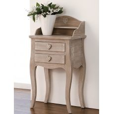 Linosa - Shabby chic consolle in wood, with drawers