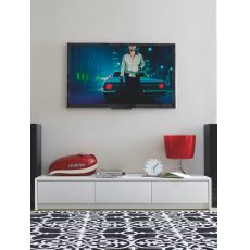 CB6031-5 Password - Connubia - Calligaris drawer chest - TV stand made of lacquered wood, three drawers, 185 x 52 cm