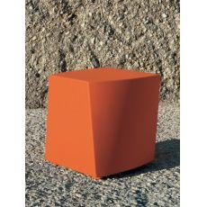 Boom - Pouf en polyéthylène pour jardin, ou rembourré, disponible en différentes couleurs