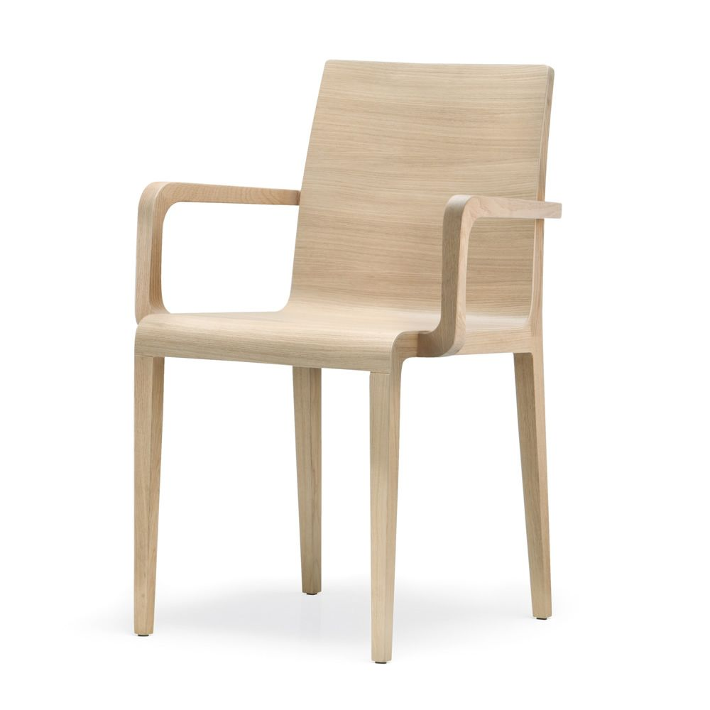 Young 425 fauteuil design de restaurant en ch ne massif for Chaise de table design