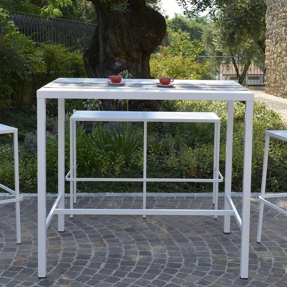 Rig72th tavolo alto in metallo diverse misure altezza for Tavoli in metallo per giardino