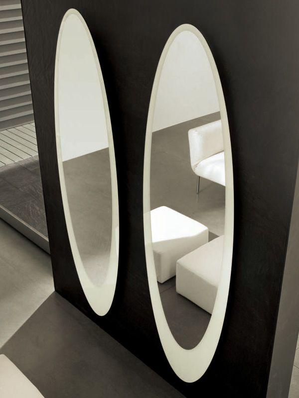 Olmi 7507 Tonin Casa Elliptical Mirror With Glass Frame