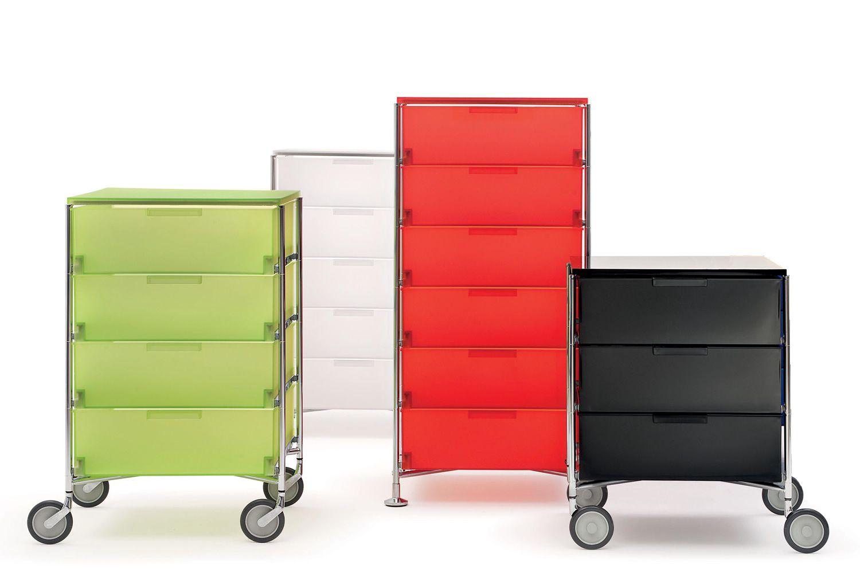 Mobil meuble de rangement kartell 3 tiroirs en m tal et for Meuble kartell