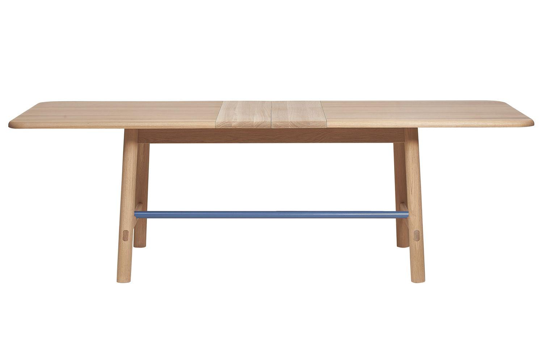 h l ne table rallonge en bois et m tal sediarreda. Black Bedroom Furniture Sets. Home Design Ideas