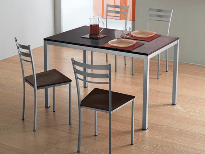 Full tavolo domitalia in metallo piano vetro o for Tavolo 120x80
