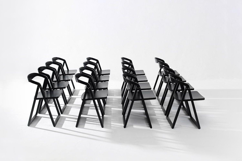 Patan sedia pieghevole in legno disponibile in diversi colori