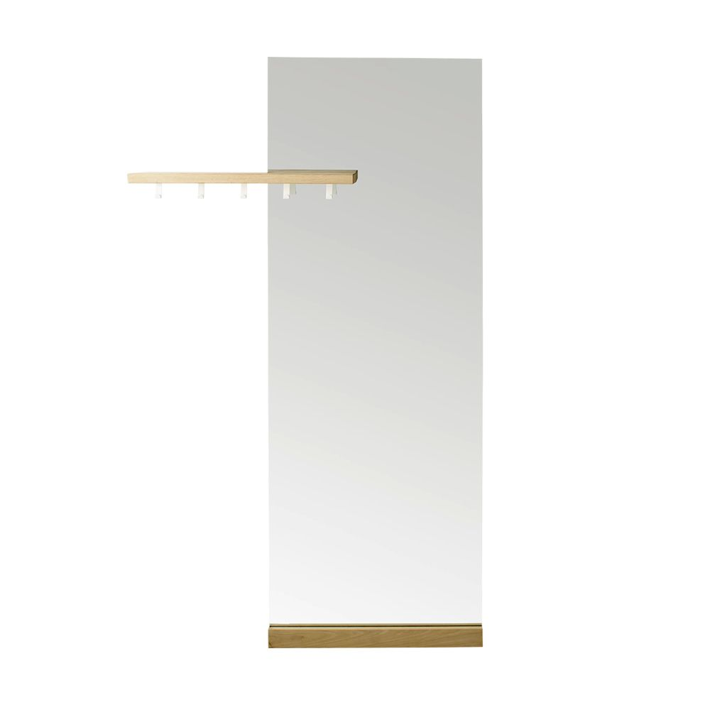 shift floor spiegel mit kleiderhaken und ablage aus eichenholz sediarreda. Black Bedroom Furniture Sets. Home Design Ideas