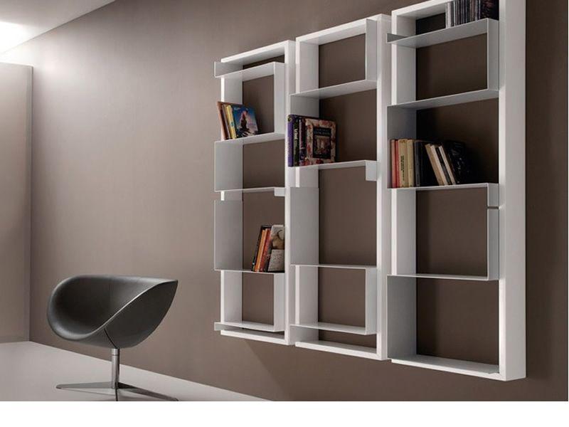 Mondrian libreria modulare a muro di tonon in diverse for Libreria a muro bianca