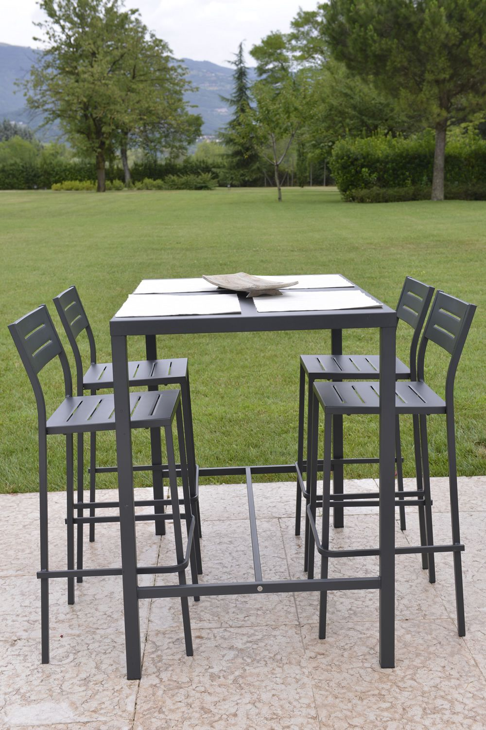 Table haute jardin metal des id es for Salon de jardin lounge