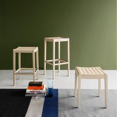 CB1684 Party - Connubia - Calligaris wooden stool, different colours and heights available
