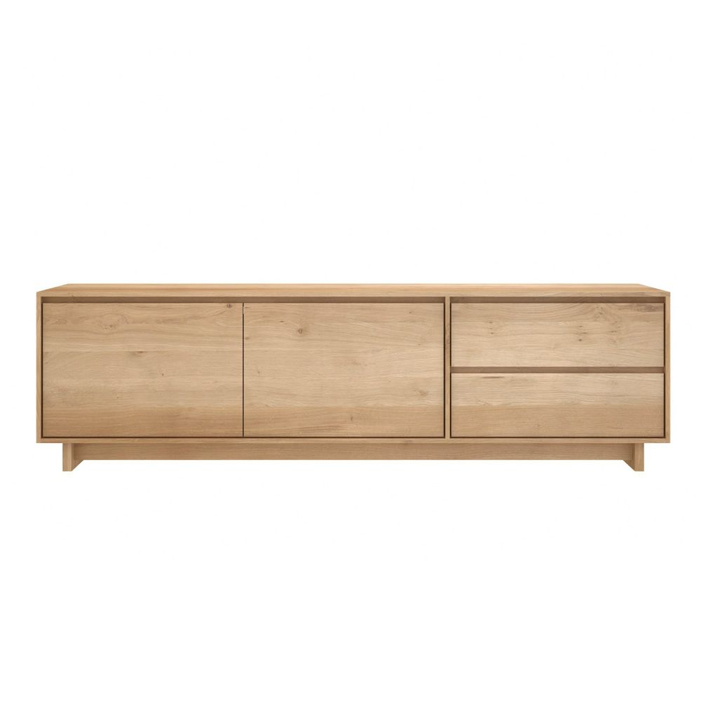 Wave tv meuble tv ethnicraft en bois disponible en for Meuble tv wave