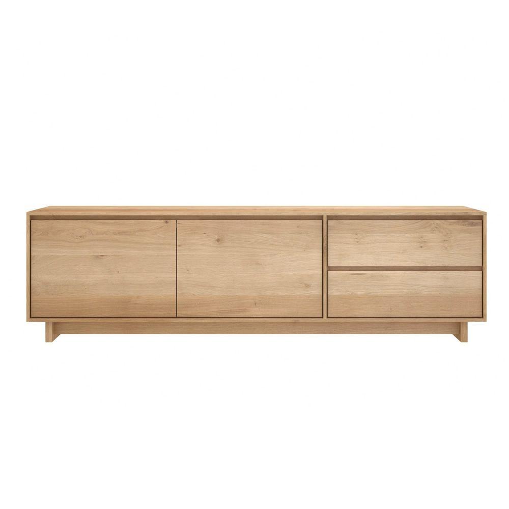 Wave tv meuble tv ethnicraft en bois disponible en for Meuble tv wave