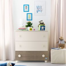 Gaia C - Chest of drawers Pali in wood, with three drawers, available in several colours