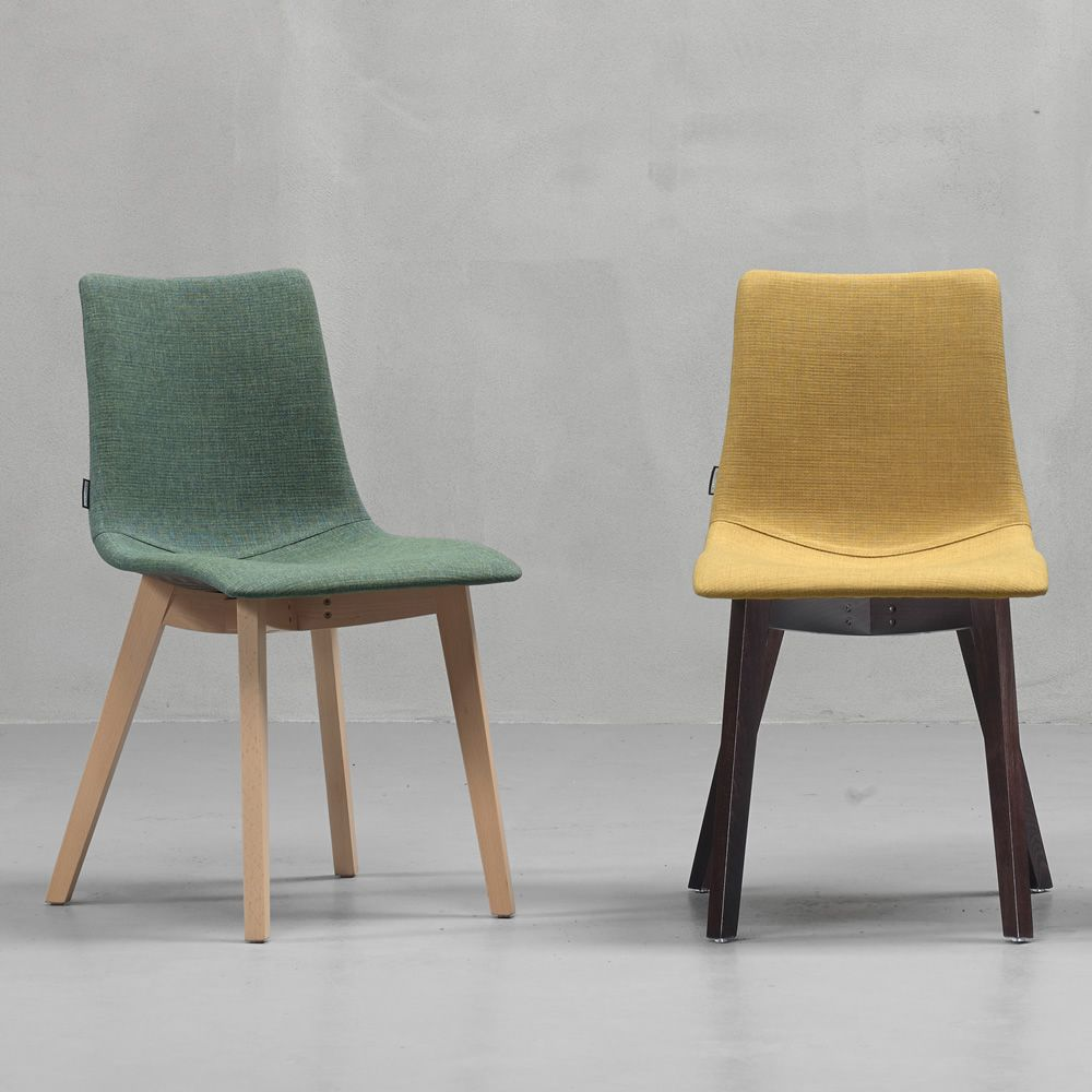 Natural zebra pop 2806 sedia moderna in legno con seduta for Sedia moderna design