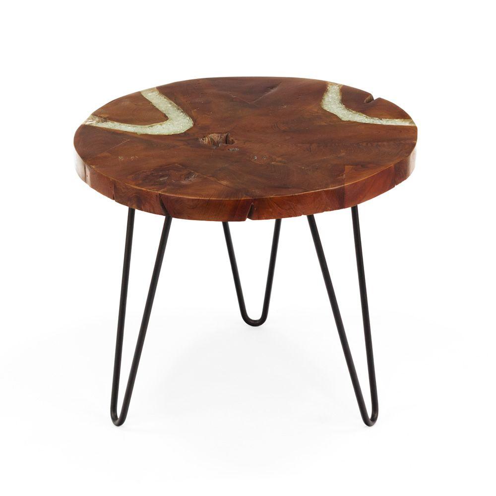 Bangui table basse design avec structure en m tal et - Table basse en bois naturel ...