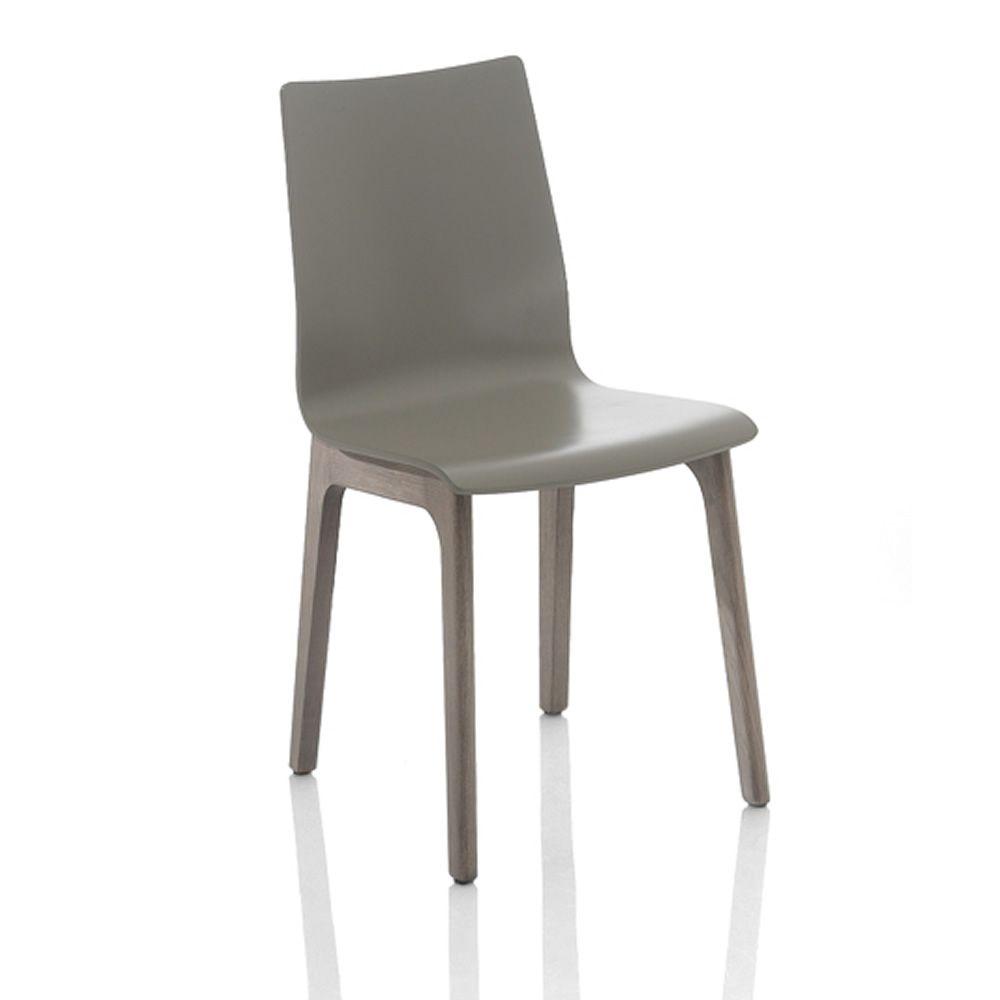 Alfa wood: Designer Stuhl Bontempi Casa, aus Holz - Sediarreda