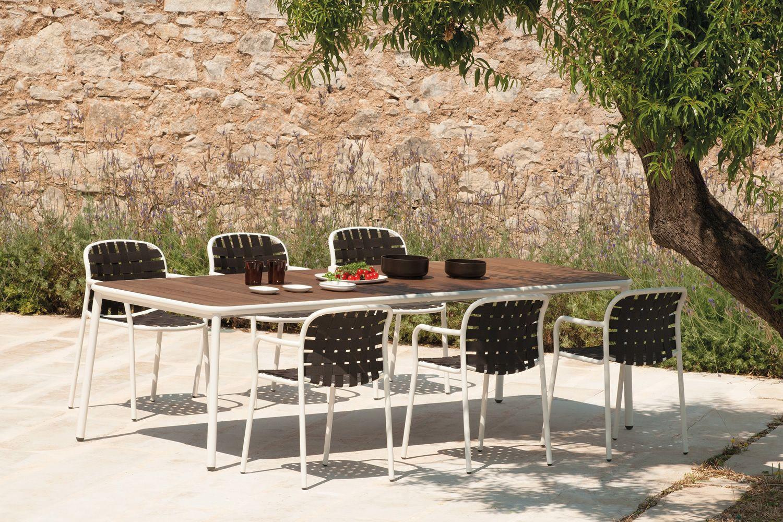 Yard T4: Emu table in aluminium, 160x97cm fix or extendable ash top ...