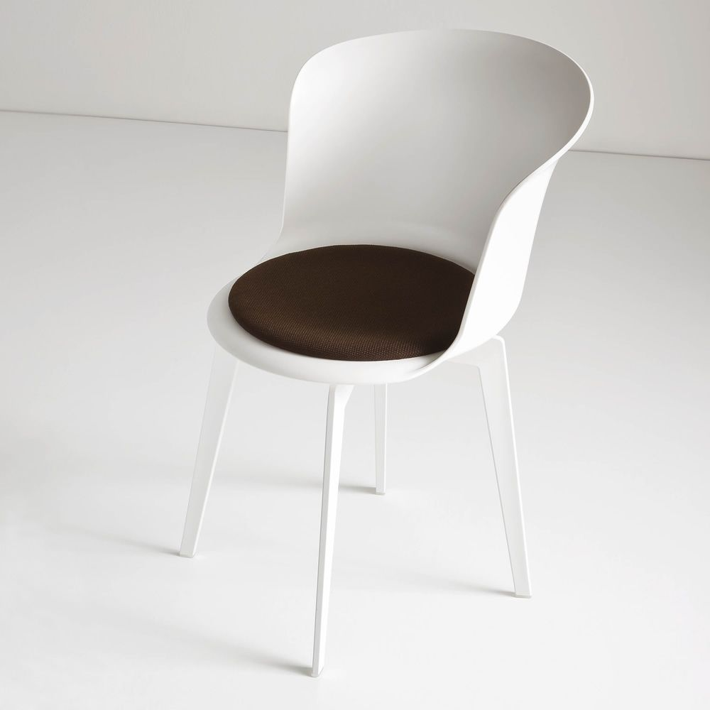 Epica design chair made of technopolymer also swivel for White designer chair