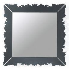 Novecento Iron.q - Quadratischer Spiegel con Colico Design, 94x94 cm, aus Stahl in verschiedene Farben erhältlich