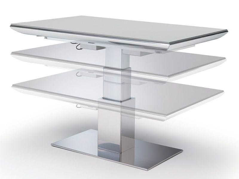 E motion tavolo trasformabile in metallo piano in - Meccanismo per tavolo allungabile ...