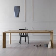 Manero - Miniforms rectangular table in wood, available in different dimensions