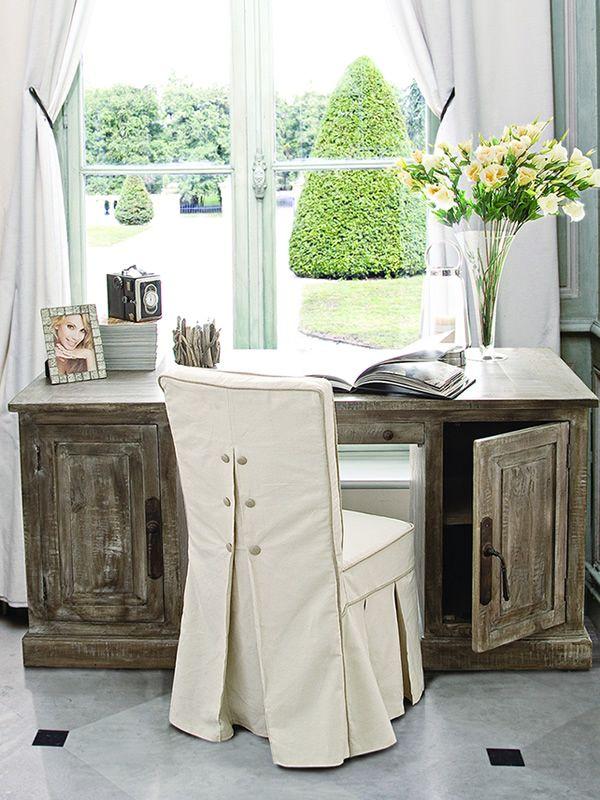 Levanna scrivania shabby chic in legno 165x80 cm for Scrivania shabby