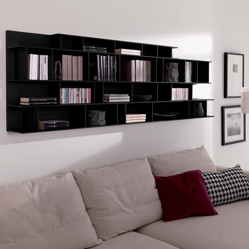 byblos o biblioth que murale modulaire en bois sediarreda. Black Bedroom Furniture Sets. Home Design Ideas