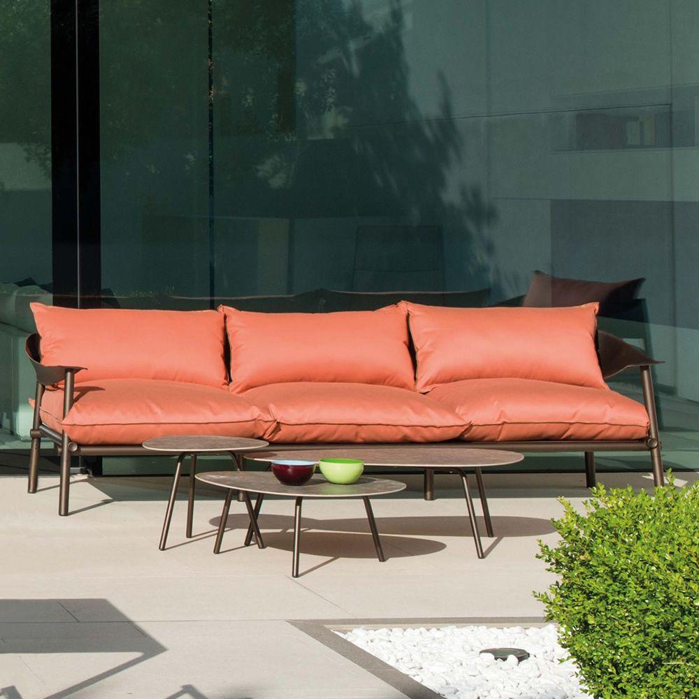 Terramare divano emu in alluminio e eco cuoio con for Divani in cuoio