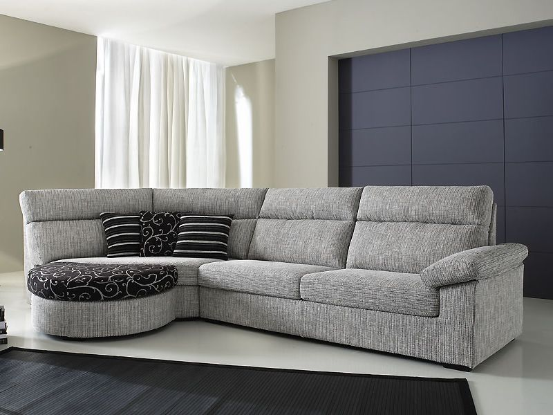 rond a canap 2 places avec angle arrondi et pouf. Black Bedroom Furniture Sets. Home Design Ideas