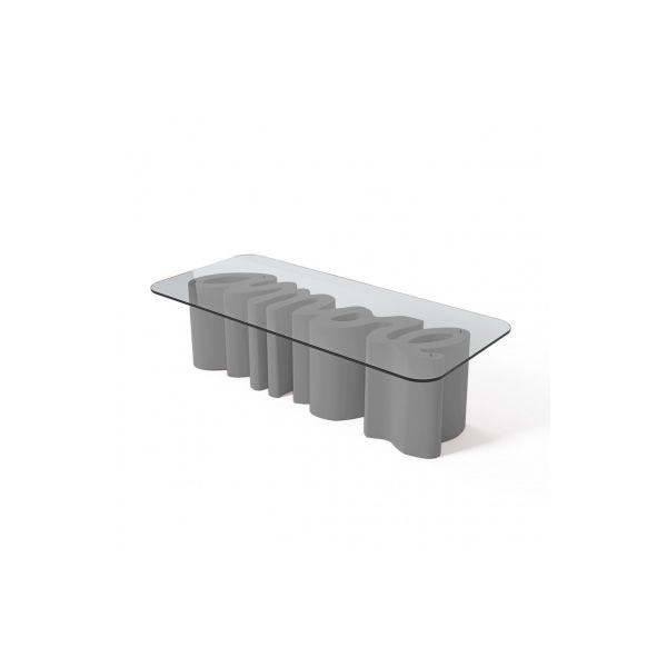 amore table beistelltisch slide aus polyethylen glasplatte in verschiedenen farben verf gbar. Black Bedroom Furniture Sets. Home Design Ideas