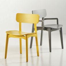 Cacao - Sedia di design Chairs&More, in legno, disponibile in diversi colori, con o senza braccioli
