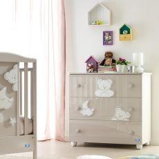 Georgia C - Chest of drawers Pali with three drawers, available in several colours