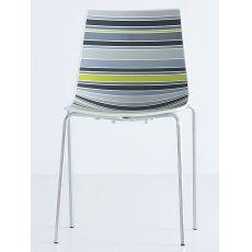 Colorfive - Sedia di design, in metallo e tecnopolimero, impilabile, disponibile in diversi colori, anche per esterno