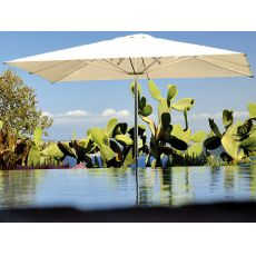Shade B - Garden umbrella with aluminium central base, available in several colours