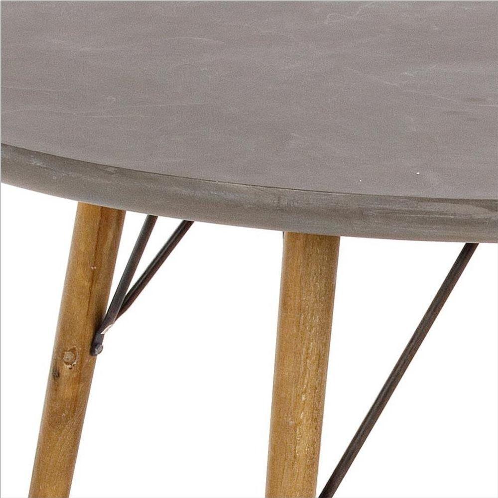 cairo tavolo di design struttura in legno e piano in mdf effetto cemento rotondo o. Black Bedroom Furniture Sets. Home Design Ideas
