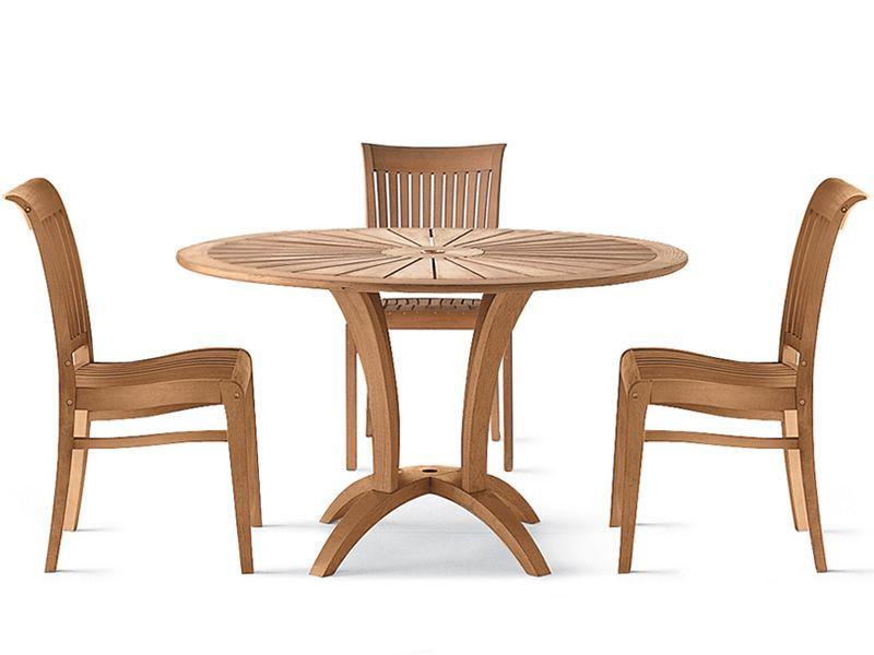 Eclypse: Table de jardin en bois de robinier, diamètre 125 cm ...