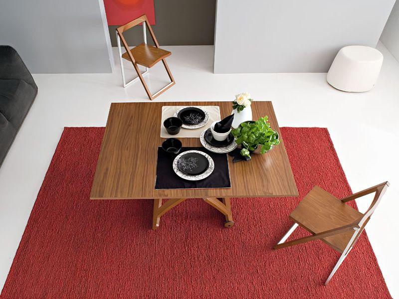 cb490 mascotte table rallonge et rglable en hauteur en bois teint noyer - Table Reglable En Hauteur Avec Rallonge