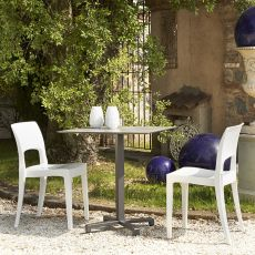 Isy Tecno 2327 - Bar chair in technopolymer, stackable, available in several colours, also for outdoor