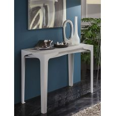PA128 - Metal table-console with 50x100 cm top in several finishes, extendable