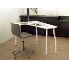 Wing - Domitalia writing desk made of metal and MDF, with peninsula