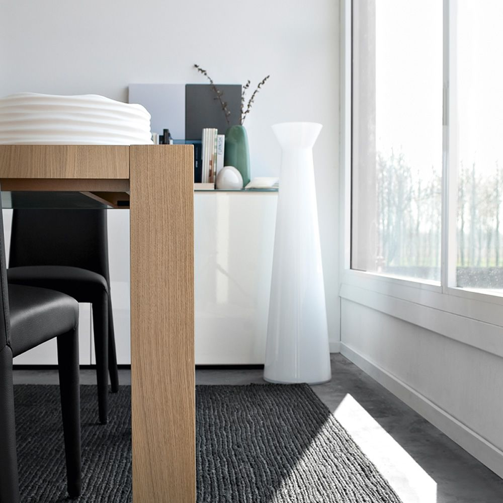 7095 norha vaso calligaris in vetro bianco sediarreda for Tavolo vetro bianco calligaris