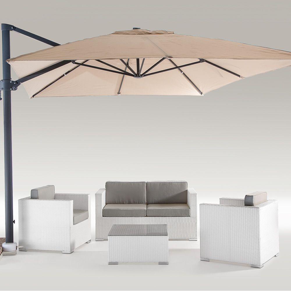 Chimera set para exteriores en aluminio y s mil rat n for Sofa exterior aluminio blanco