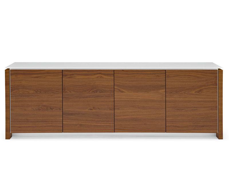 Cs6029 2 mag meuble buffet calligaris en bois et verre for Meuble calligaris
