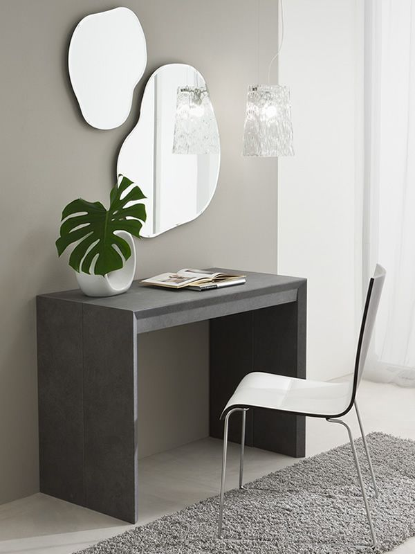 pa308 table console en stratifi avec plateau 50x100 cm en diff rentes finitions rallonge. Black Bedroom Furniture Sets. Home Design Ideas