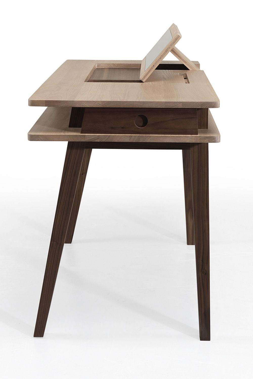 Lei tavolo multifunzionale in legno con contenitore e specchio a scomparsa nel piano sediarreda - Tavolo scomparsa ...
