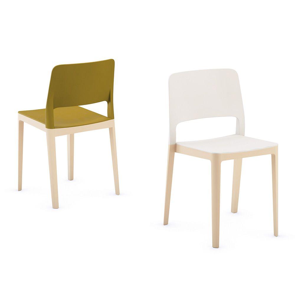 Settesusette sedia infiniti in legno seduta e schienale for Sedie legno e plastica