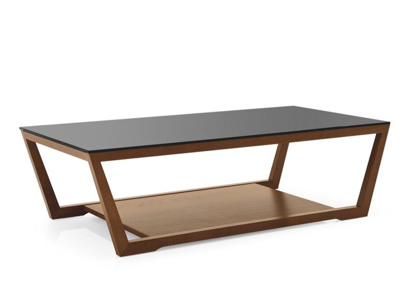 Cs5043 R Element Calligaris Coffee Table Wood Structure Glass Top 120x60 Cm Sediarreda