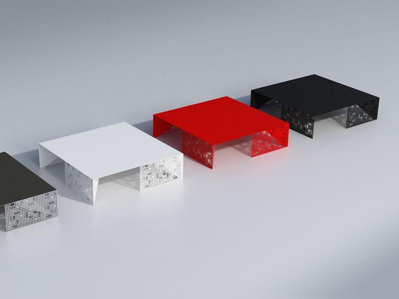city m table basse en mtal verni en blanc rouge ou noir - Table Basse Rouge Et Noir