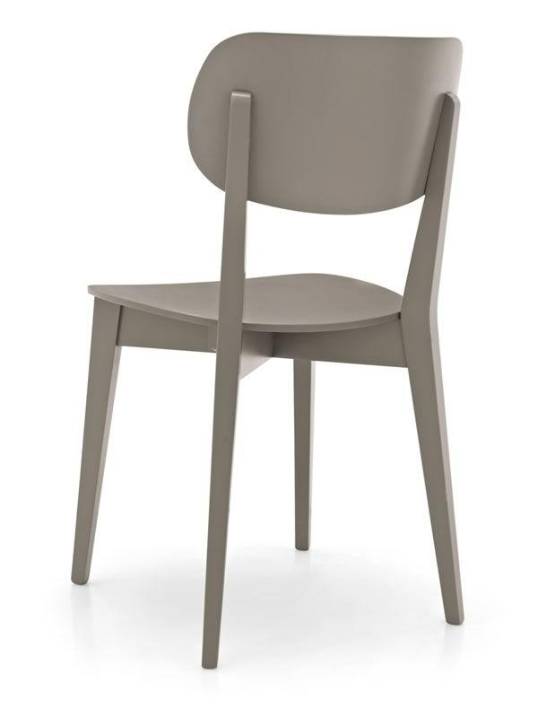 Cb1436 robinson chaise connubia calligaris en bois avec - Chaise bois gris ...