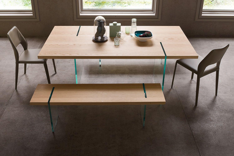 Panca Seduta Funzionale In Casa : Agazia p panca di design con gambe in vetro seduta